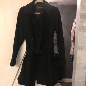 Black express pea coat